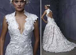 key back wedding dress lace v neck wedding dress with open key back