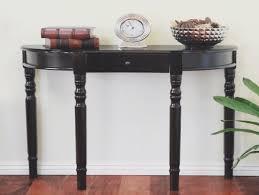 console tables furniture small half moon oak narrow demilune