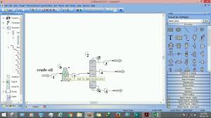chemcad atmospheric distillation of crude oil youtube