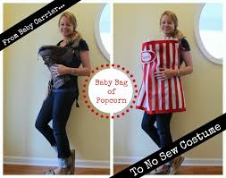 Infant Popcorn Halloween Costume Handmade Sew Popcorn Costume Baby