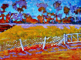 Impressionist Landscape Painting by Mixed Media Artist Richard Tuvey Post Impressionist Landscapes