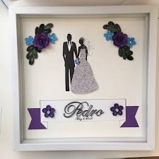 handmade wedding gifts wedding gift for wedding anniversary quilled paper