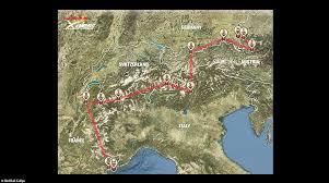 Alps On A Map Red Bull X Alps 2015 Hike U0026 Fly Von Salzburg Nach Monaco