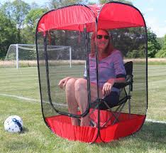 screened in chair tent protects you from bugs and gives you shade