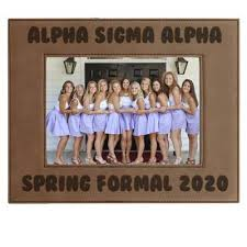 sorority picture frame custom formal engraved leather picture frame gear