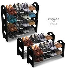shoe organizer sorbus shoe rack organizer storage u2013 holds numerous pairs of
