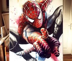 coloring amusing spider man painting ben jeffery amazing