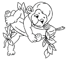 printable coloring pages monkeys coloring pages of baby monkeys simploos co