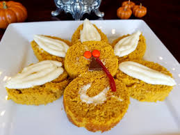 thanksgiving pumpkin turkey roll with cheese frosting recipe
