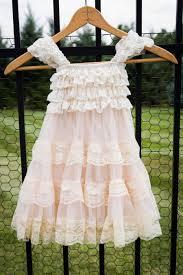 Chic Flower Champagne Flower Dress Lace Pettidress Vintage Flower