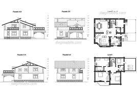 villa plan villas dwg models free