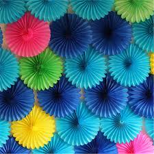 New Year Paper Decorations by 15cm 20cm 30cm 1pcs Paper Fans Hand For Wedding Decorations