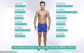 Seeking Kyle Doll Human Ken Doll Rodrigo Alves Shows His New Look Daily Mail