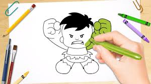 how to draw baby hulk coloring pages kids learn drawing art