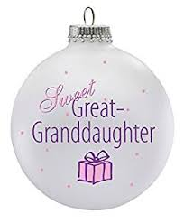 personalized sweet great granddaughter ornament