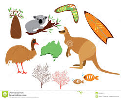 australia set stock vector image of card decor colors 53048915
