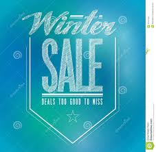 blue and green lights winter sale poster sign royalty free stock