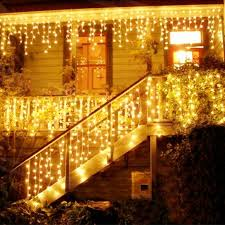 Curtain Christmas Lights Indoors Christmas 4m 96 Led Indoor Outdoor String Lights 110 220v Curtain