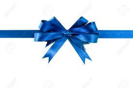 royal blue ribbon royal blue gift ribbon bow horizontal isolated on white