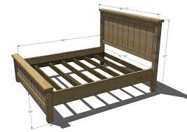 what are the dimensions of a queen size bed frame on for simple