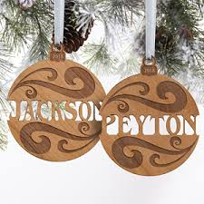 personalized wood name ornaments