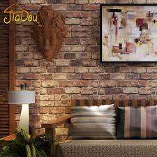 brick stone wall paper chinese rustic vintage 3d pvc exfoliator