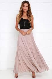 maxi skirt mauve skirt maxi skirt pleated skirt high waisted skirt 65 00