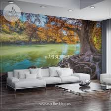 wall murals peel and stick vinyl self adhesive tagged fall river scene wall mural tree river self adhesive peel stick wall mural