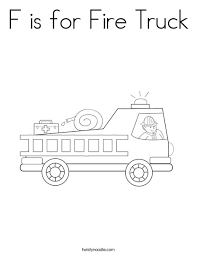 fire truck coloring twisty noodle