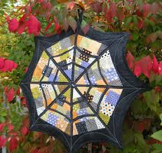 halloween fabric crafts spider web quilt along small at scrapatches jpg 1600 1509