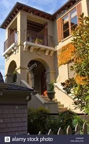 spanish style house architecture seattle wa stock photo royalty