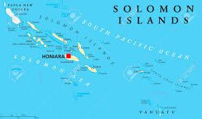 Vanuatu Map Solomon Islands Political Map With Capital Honiara On Guadalcanal