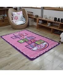 hopscotch kids rug bedroom pink purple rug children carpet