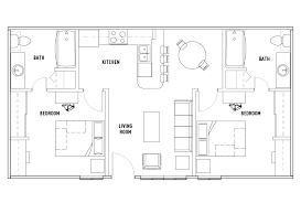 2 bedroom 2 bath floor plans floor plans at prairie view student housing
