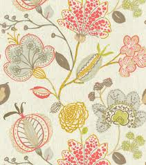 Home Decorator Fabrics Online P Kaufmann Upholstery Fabric Majestic Tigerlily Floral