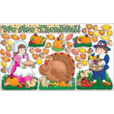 happy thanksgiving bulletin board set wooks
