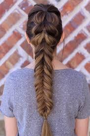 pull through fishtail braid combo hair pinterest fishtail