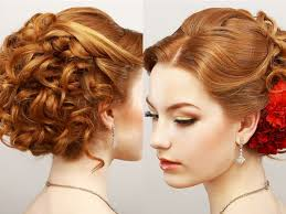 curly prom updo hairstyle for diamond and oval faces popular