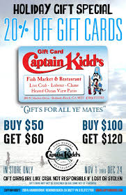 buy a gift card buy a gift card captain kidd s fish market and restaurant