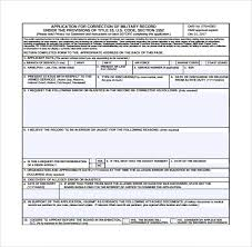 sample correctional services application form 9 download free