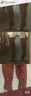 s heel boots size 11 izabella ruethigh high heel boot size 11 thigh high suede maroon
