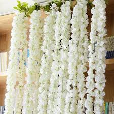 wedding backdrop garland wedding arch garland white wisteria silk flower garland home