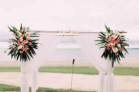 Bamboo Wedding Arch Natalie U0026 Jake U0027s Golden Fiji Wedding At Hilton Fiji Beach Resort