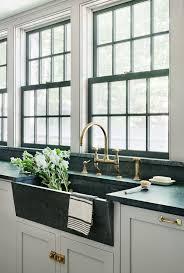 Cheap Farmhouse Kitchen Sinks Kitchen Black Stainless Farmhouse Sink Stainless Steel Apron