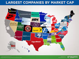 Paradise Massachusetts Map by Map Of The Largest Companies In Each State By Market Ca