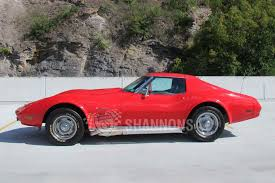 vintage corvette stingray sold chevrolet corvette stingray 454ci targa coupe lhd auctions