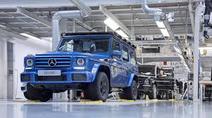 mercedes g class 300 000th mercedes benz g class rolls off production line in