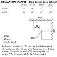 what is a blind corner kitchen cabinet base 39 42 unfinished alder blind corner kitchen cabinet