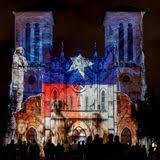 san fernando cathedral light show san fernando cathedral with native american light show editorial