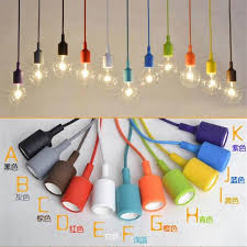 Diy Pendant Light Suspension Cord by Aliexpress Com Buy Colorful Silicone Pendant Lights E27 Holder